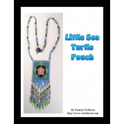 Sea Turtle with Flower Pouch Bead Pattern Chart