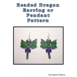Dragon Earring or Pendant Bead Pattern