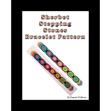 Sherbet Stepping Stones Bracelet Bead Pattern Chart