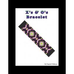 X's & O's Bracelet Pattern Chart