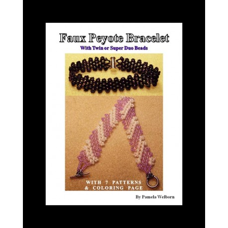 Faux Peyote with Twins or Super Duos Bracelet Tutorial