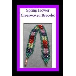 Flowers Crosswoven Bracelet Tutorial