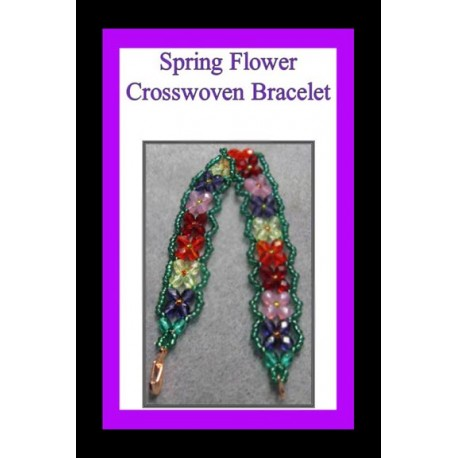 Flowers Crosswoven Bracelet Tutorial