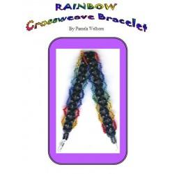Rainbow Crosswoven Bracelet Tutorial
