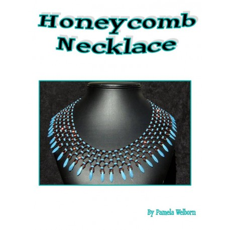 Honeycomb Netted Necklace Tutorial