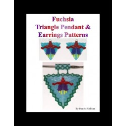 Fuchsia Triangle Pendant & Earring Pattern