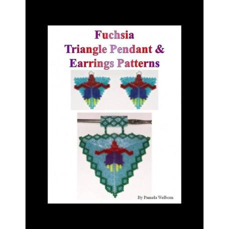 Fuchsia Triangle Pendant & Earring Pattern