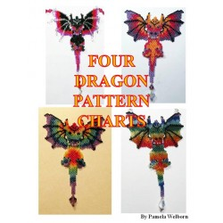 Four Alternate Beaded Dragon Pattern Charts