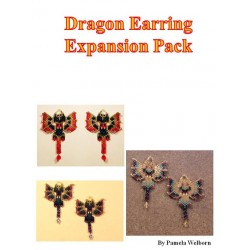 Six Alternate Beaded Dragon Earring Pattern Charts