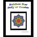 Rainbow Star Bead Netted Doily or Coaster