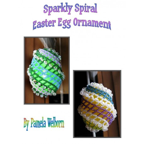 Sparkly Spiral Easter Egg Ornament Tutorial