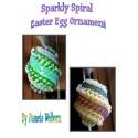 Sparkly Spiral Easter Egg Ornament Tutorial
