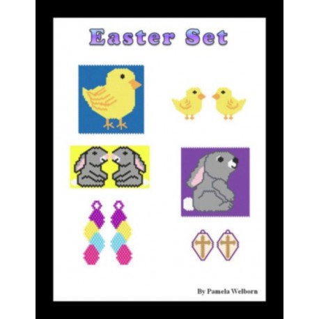 Easter Earring and Pouch Pattern Set Beading Patterns