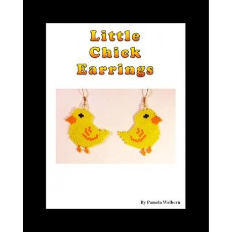 Little Chick Earring Beading Pattern
