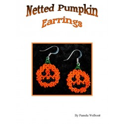 Bead Netted Pumpkin Earrings Tutorial