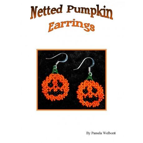 Bead Netted Pumpkin Earrings Tutorial