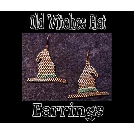 Old Witches Hat Beaded Charted Earring Pattern