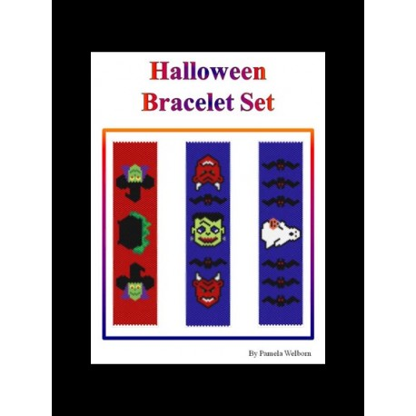 Halloween Peyote Bracelet Set Beading Patterns