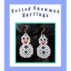 Bead Netted Snowman Earring Tutorial