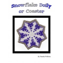 Bead Netted Snowflake Doily or Coaster