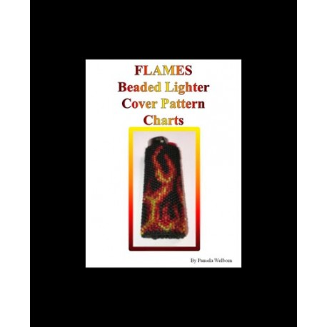 Flames Lighter Cover pattern chart