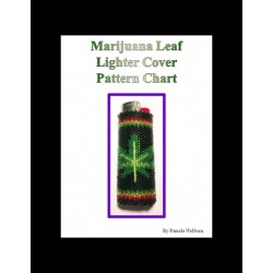 Marijuana Leaf Lighter Cover pattern chart