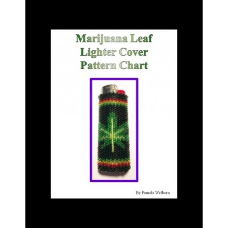 Marijuana Leaf Lighter Cover pattern chart