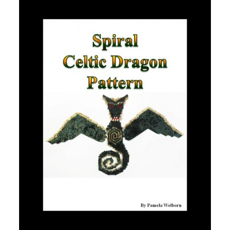 Spiral the Celtic Dragon Necklace Bead Pattern Chart