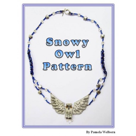 Snowy Owl Necklace Bead Pattern Chart