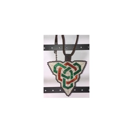 Double Celtic Knot work Triangle Pendant