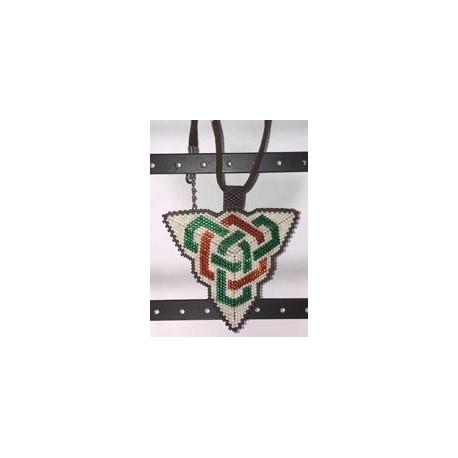 Double Celtic Knot work Triangle Pendant