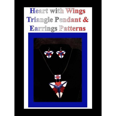 Heart with Wings Triangle Pendant & Earring Pattern