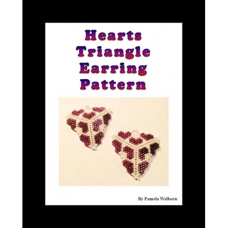 Hearts Triangle Earring Pattern