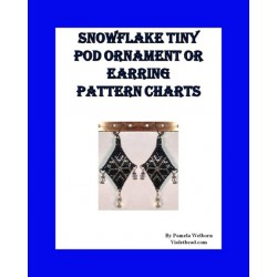 Snowflake 3D Peyote Pod earring or tiny ornament pattern