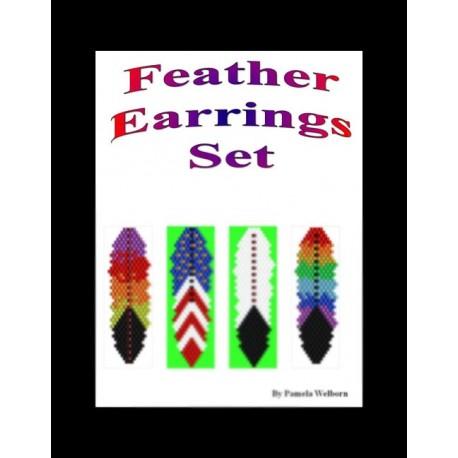 Feathers Earring Pattern Set
