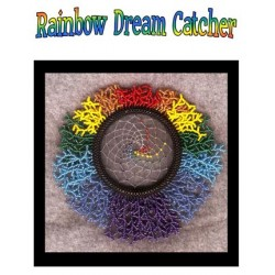 Beaded Rainbow Dream Catcher Tutorial
