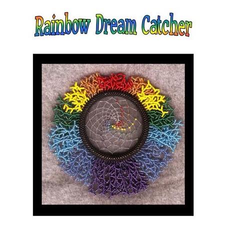 Beaded Rainbow Dream Catcher Tutorial