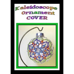 Kaleidoscope Beaded Disc Ornament Cover Tutorial