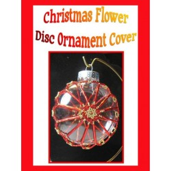 Christmas Flower Beaded Disc Ornament Cover Tutorial