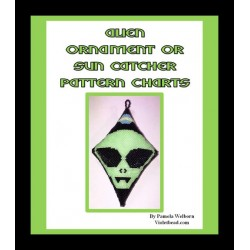 Alien 3D Peyote Pod ornament pattern