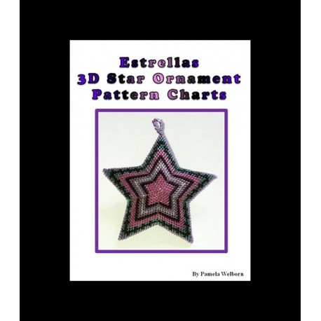 Estrellas 3D Beaded Star Pendant pattern