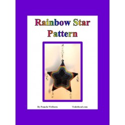 Rainbows Beaded 3D Star Pendant or Ornament pattern