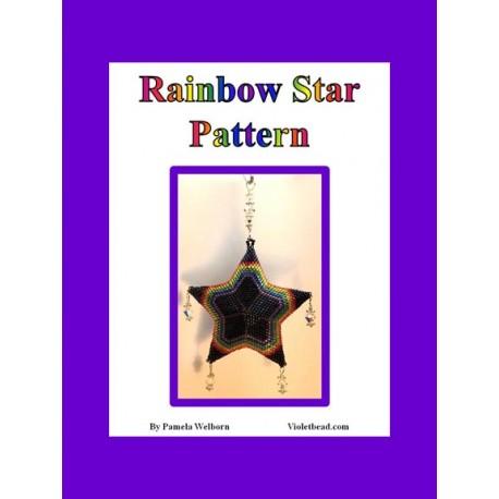 Rainbows Beaded 3D Star Pendant or Ornament pattern