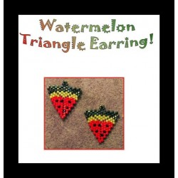 Watermelon Triangle Earring Beading Pattern