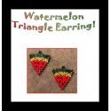 Watermelon Triangle Earring Beading Pattern