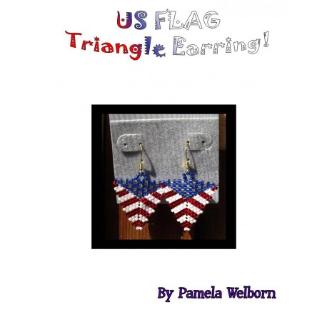 US Flag Triangle Earring Pattern