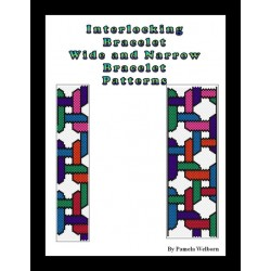 Interlocking beaded Bracelet charts - wide and narrow versions