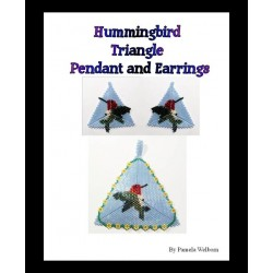Hummingbird Triangle Pendant & Earring Pattern