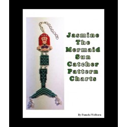 Jasmine the Mermaid Sun Catcher Bead Pattern
