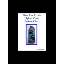 Bear Paw Prints Lighter Cover chart